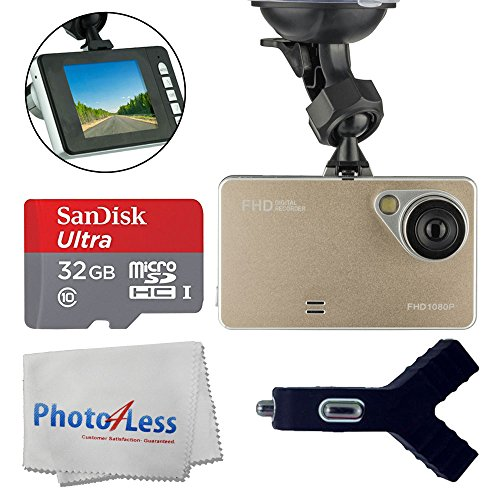 Dashboard DVR Cam Vehicle HD 1080P 170 Degree Ultra Wide Ang