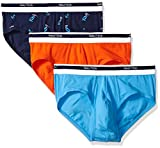 Nautica Men's Classic Underwear Cotton Stretch Brief-Multi Pack, Spicy Orange/Aero Blue/Crane Peacoat, M