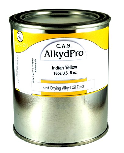 C.A.S. Paints AlkydPro Fast-Drying Oil Color Paint Can, 16-Ounce, Indian Yellow ()