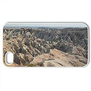 Badlands National Park in South Dakota - Case Cover for iPhone 4 and 4s (Watercolor style, White) by icecream design