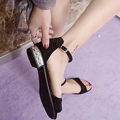 XIAOGEGE da sandali 35 Onorevoli basso ER rugiada con per scarpe antiscivolo punta 36 Er donna 77rwqz