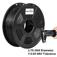 3D Printer Filaments - Black 1.75 mm PLA Filament, Low Odor Dimensional Accuracy +/- 0.02 mm 3D Printing Filament, 2.2 lbs Spool 3D Printer Filament for Most 3D Printers & 3D Pens by Worksteel