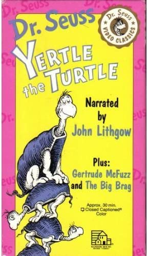 Amazon Com Yertle The Turtle And Other Stories Vhs Seuss Dr Movies Tv It was first released by random house books on april 12, 1958, and is written in seuss's trademark style. amazon com yertle the turtle and other