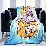 DAVIDRIGH LANKYBOX Foxy Boxy Blanket Soft Flannel