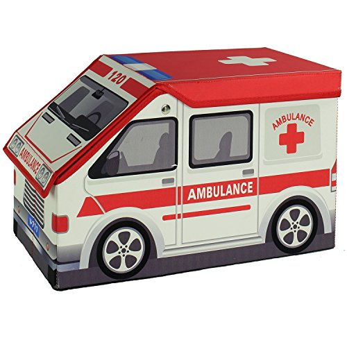 Ambulance Toy Storage Box and Closet Organizer for Kids