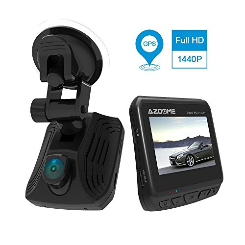 Dash Cam with Built-in GPS, Ambarella A12 Chip, 2560x1440P Full HD Car DVR Camera Video Recorder 2.31 inch Screen HDR and ADAS Technology High Resolution Wide Angle (DAB211-New)