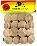 AmePro Supply Wood knobs for Cabinet Doors - Dresser Furniture Drawers - 1 1/2 inch Small Wooden Knobs - Unfinished Craft - Folding bifold door Cabinets drawer - Stain or paint white (16)