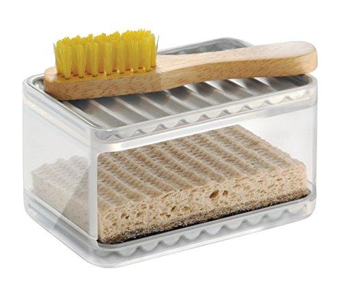 mDesign Kitchen Sponge Scrubby Holder