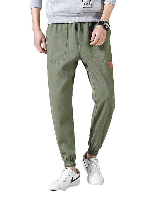 ... para Hombres En Pantalones Completos Pantalones para Correr con  Pequeños Parches Pantalones Cortos con Cordones En Estilo Hip Hop  Amazon.es   Ropa y ... a20388831e9