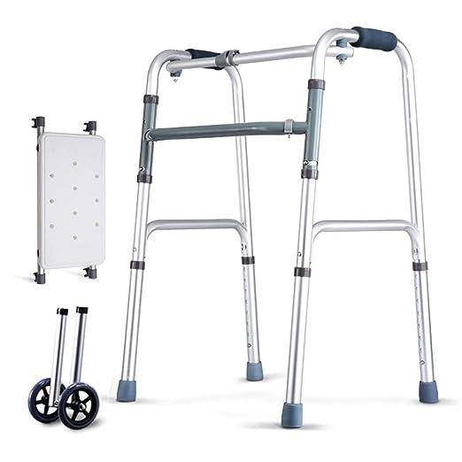 NYDZ - Andador de Ancianos con polea y Tabla de Sentarse, Silla de ...
