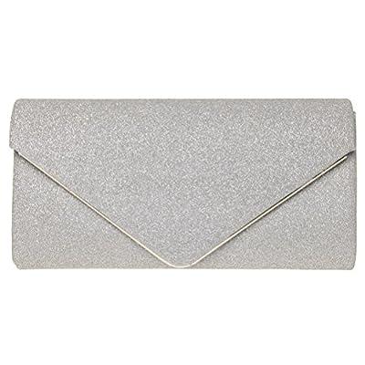 FASHIONROAD Evening Clutch, Womens Shining Envelope Clutch Purses, Handbag For Wedding & Party