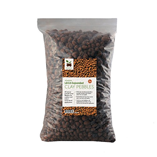 xGarden 2 lbs LECA Expanded Clay Pebbles - Horticultural Grade for Soil Hydroponics ()