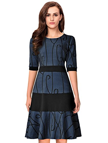 lace a line dress with sleeves - 5