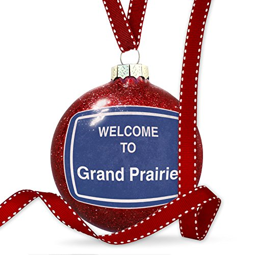 Christmas Decoration Sign Welcome To Grand Prairie Ornament (Prairie Grand Christmas Lights)