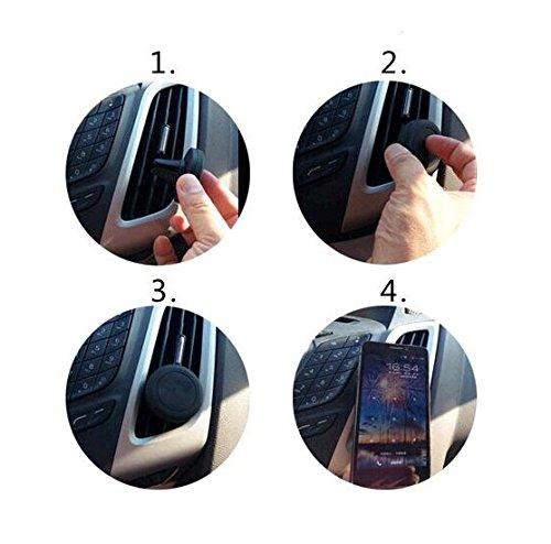 Coche universal del teléfono móvil / GPS / navegación titular del dispositivo por ejemplo, para BQ Aquaris U Plus ventilación Holder soporte de rejilla soporte para teléfono magnética BQ Aquaris U Plu