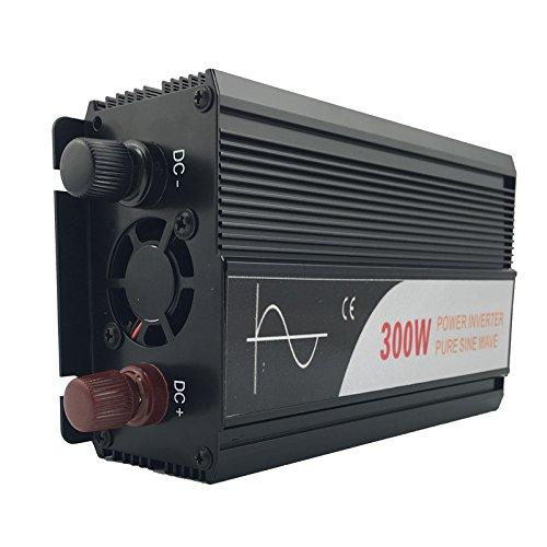 Xijia 300W Pure Sine Wave Power Inverter DC 12V 24V 48V to AC 120V 50HZ Solar Converter for Home Use car DC 12V to AC 120V Peak 600W