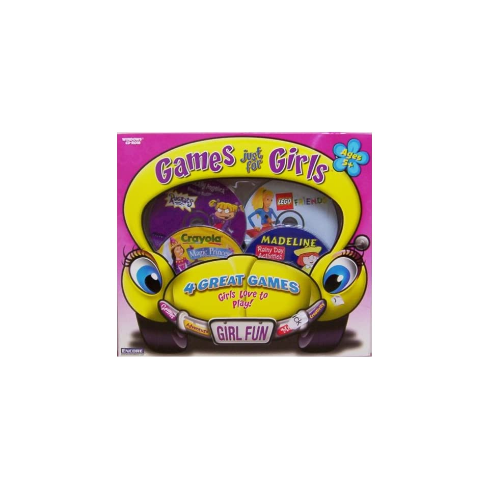 ENCORE Games Just For Girls   Lego Friends, Madeline Rainy Day, Rugrats Boredom Buster, Crayola Magic Princess