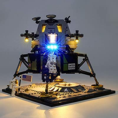 ECLENYES Small Particle Building Block Accessories USB Lighting Kit for Lego Apollo 11 Lunar Module 10266 (LED Included Only,No Lego Kit)(This Product is not Manufactured or Sold by Lego): Home & Kitchen
