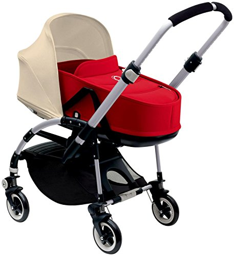 Bugaboo Bee3 Bassinet & Sun Canopy - Off White - Red by Bugaboo