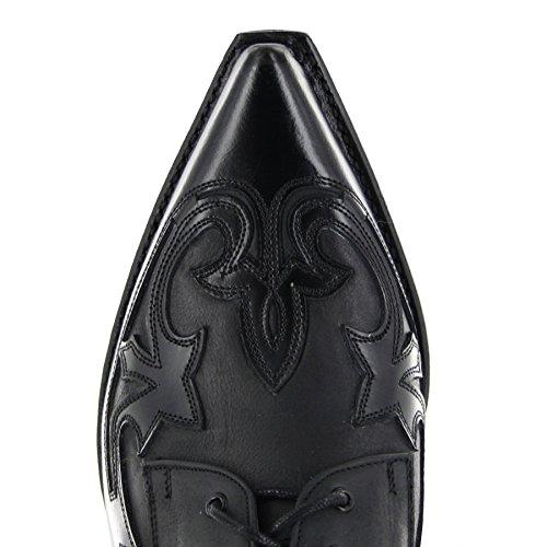 nbsp;Lace Negro Shoes Sendra Up Black Boots 10066 Western qgSzw7