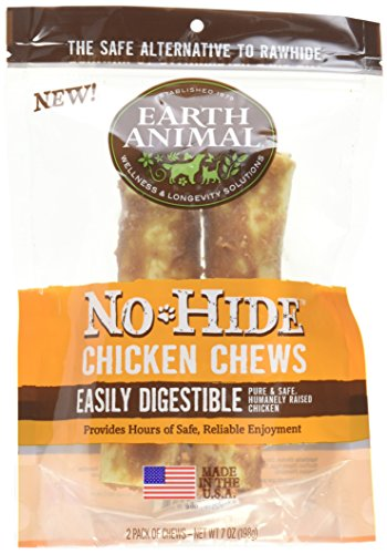518dOy7r7JL - Earth Animal No-Hide Chicken Chews Large 7oz, 2-Pack