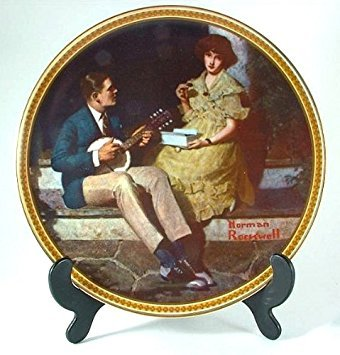 (Bradford Exchange Knowles Pondering on The Porch Norman Rockwell Plate from Rockwell's Rediscovered Women Collection - CP1245)