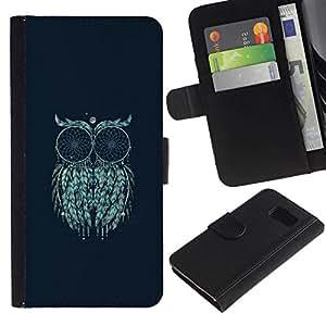 All Phone Most Case / Oferta Especial Cáscara Funda de cuero Monedero Cubierta de proteccion Caso / Wallet Case for Samsung Galaxy S6 // Art Moon Painting Mystical Eyes
