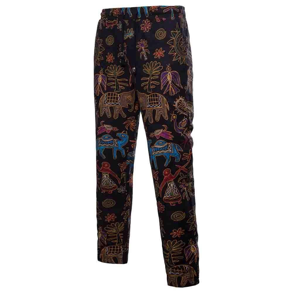 TnaIolral Men Trouser Harem Sweatpants Slacks Casual Jogger Sportwear Baggy Comfy Pants Black