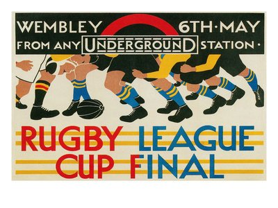 Rugby League Cup Final at Wembley Collections Art Poster Print, 24x18