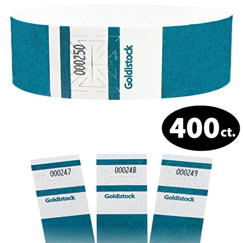 Goldistock Maximum Security One Inch Tyvek Wristbands Select Series Deep Blue/Green Teal 400 Count - Event Identification Bands (Paper - Like Texture)