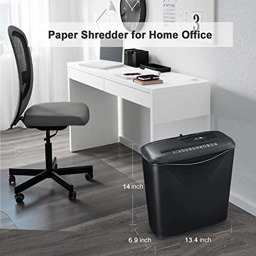8-Sheet Strip Cut Home Paper Shredder,Bonsaii CD and Credit Card Office Shredder Machine with Overheat and Overload Protection,3.5 Gallons Wastebasket,Black (S120-C) 518dPf6loHL