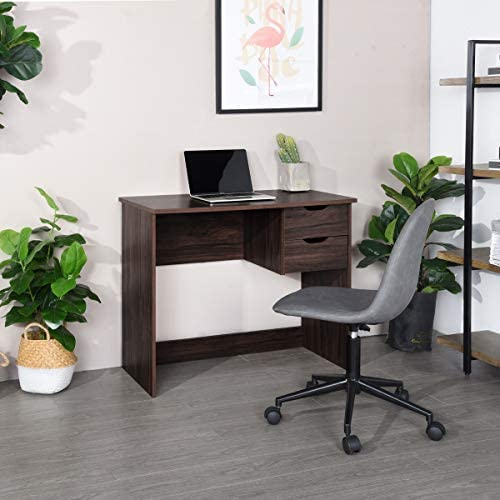 Best home office desk: Homy Casa PC Latop Study Table Workstation Home Office Wood computer desk