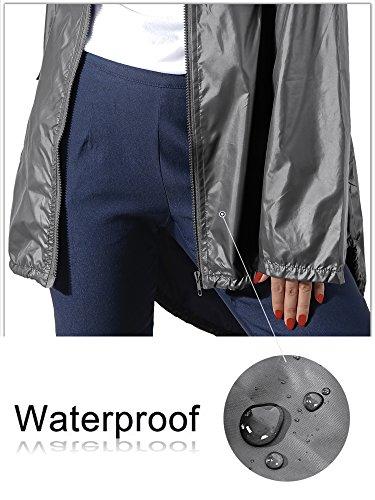 Antipioggia Bicicletta Poncho per Camping Argento Impermeabile Raincoat Giacca HENCY Lucido viaggio Donna Moto qRBSyw