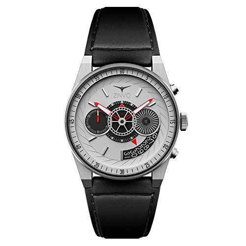 321a6b95492a ZINVO Chrono Silver Men s Luxury Watch with Movement