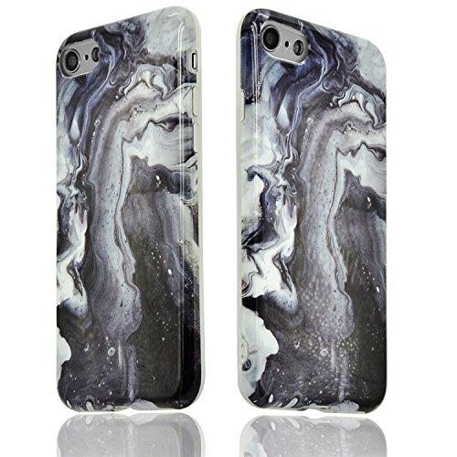iPhone 7 Funda Mármol Carcasa Sunroyal® TPU Gel Silicona Cascara Flexible Suave Bumper Case Cover Cubierta de Protección Anti-Arañazos Choque Resistente Caja del Teléfono para iPhone 7 4.7 - Mármol P A-08