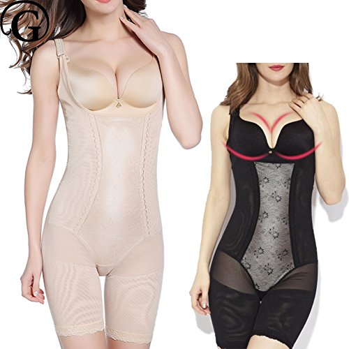 MZjJPN Women New Plus Size 5XL Full Body Shaper Slimming Thigh Lift Bra BodySuits Control Abdomen Tummy Trimmer Shapewear as picture S ()
