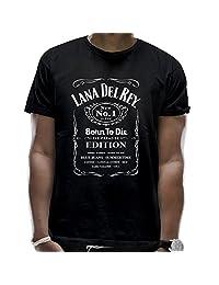 Men's Lana Del Rey Born To Die Cotton Black T-Shirt