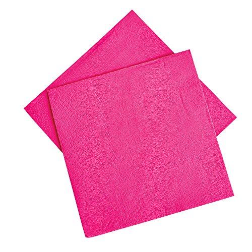 Hot Pink Beverage Napkins 50