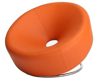 Best Selling Modern Round Chair, Orange
