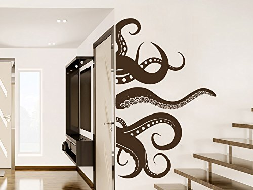 Octopus Wall Decal Animals Nautical Vinyl Sticker Decals Tentacles Fish Deep Sea Ocean Bathroom Home Decor Bedroom NS1012 by Creative_Decals