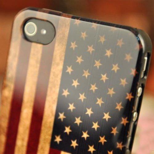 bestbuy-24 case USA Flagge für iPhone 4 / 4G / 4S, Hülle skin Hartcover Schale retro US Flag stars and strips, Fahne vintage