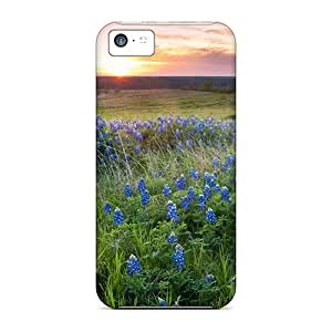 Iphone 5c Cover Case - Eco-friendly Packaging(dog On Blue Meadow)