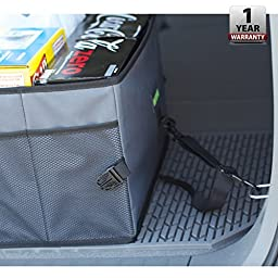 Drive Auto Products Car Trunk Storage Organizer with Straps, 2-Pack