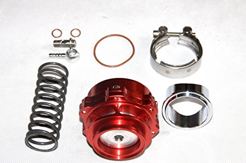 (XS-POWER Blow Off Valve BOV 50MM Red w/ 11 psi Spring Aluminum Flange …)