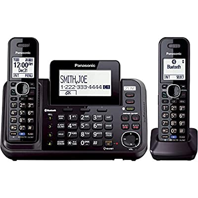Panasonic KX-TG9541B Link2Cell Bluetooth Enabled 2-Line Phone with Answering Machine