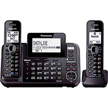 Panasonic Kx-tg9542b Link2cell Bluetooth Enabled 2-line Phone With Answering Machine & 2 Cordless Handset 0