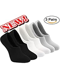 MO-KO-KO - Womens Loafer Boat Invisible No Show Nonslip Line Low Cut Cotton Socks