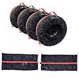 Jannyshop 1 PCS Automotive Spare Tire Tyre Wheel Cover with Carrying Handles Tote Car Wheel Protector Storage Bag