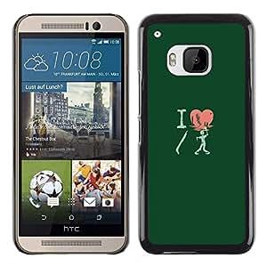 A-type Arte & diseño plástico duro Fundas Cover Cubre Hard Case Cover para HTC One M9 (Amo Shotgun Zombie - Gracioso)
