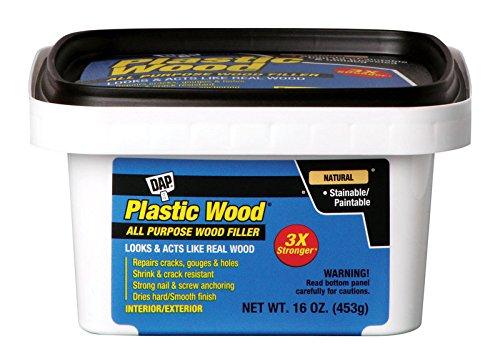 Dap 00529 16 Oz Natural Plastic Wood Carpenter's Latex Wood Filler by DAP